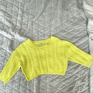 Cropped Neon Sweater